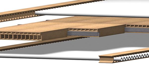 Piastre divisorie per forni a rulli pluricanale, maschiate e con alloggiamento barre